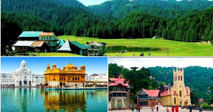 Best of Himachal Hill Stations with Amritsar Golden Temple Tour Package