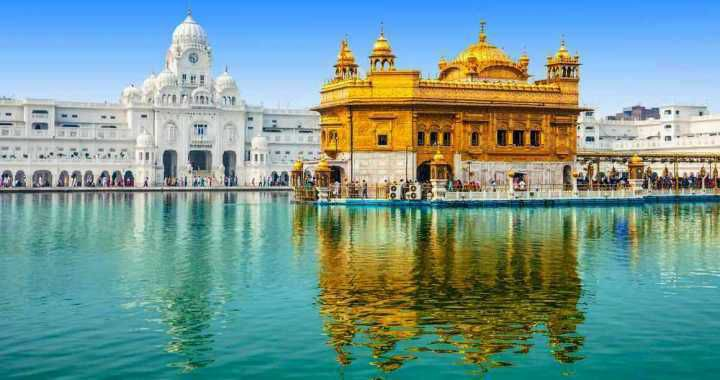 Golden Temple Amritsar with Foothills of Himalayas